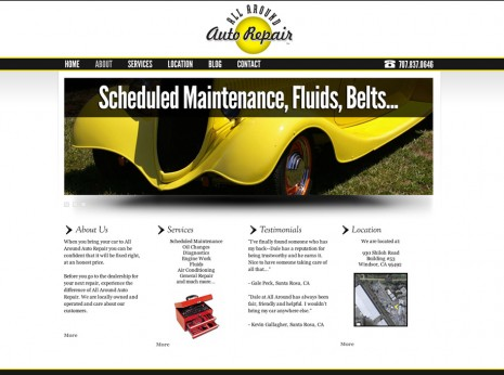 All Around Auto Repair Website