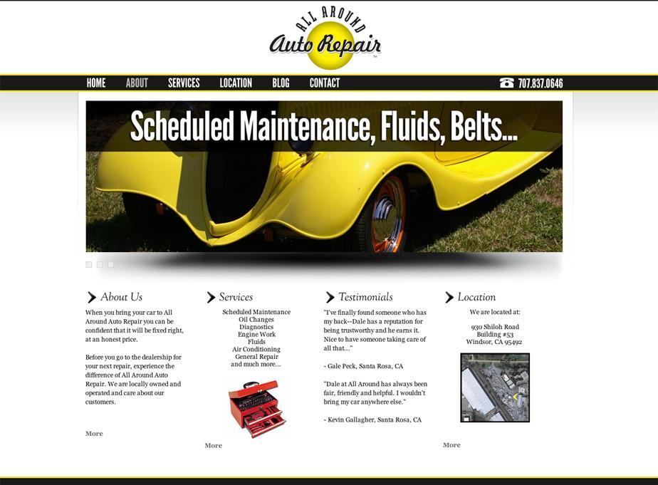 All Around Auto Repair Website