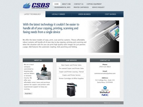 Common Sense Business Solutions Website