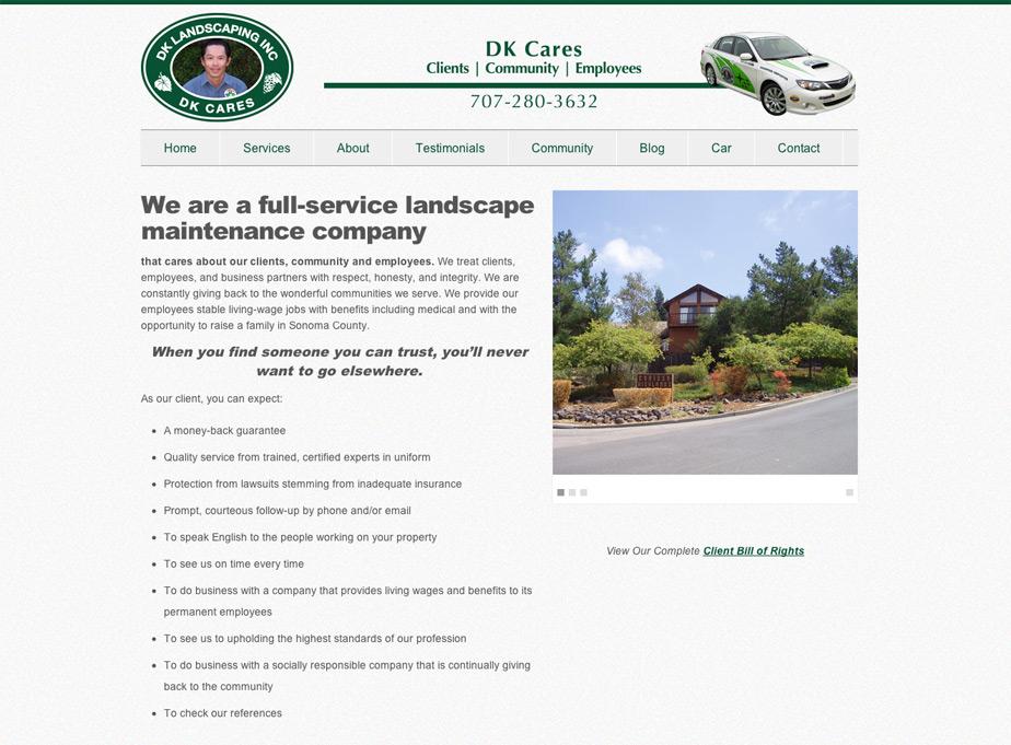 DK Landscaping Website
