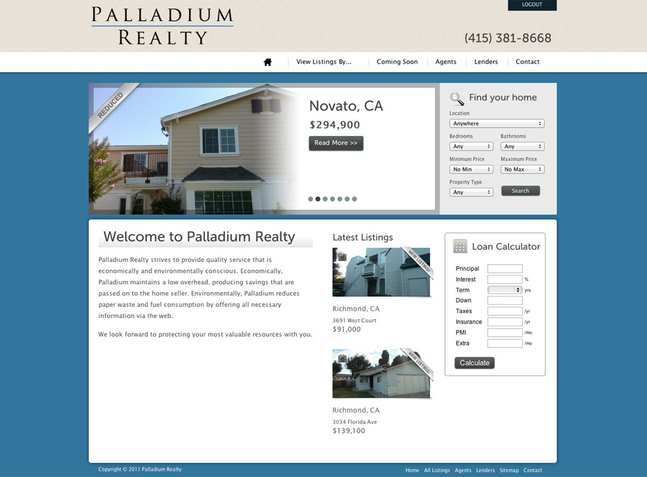 Palladium Realty Website