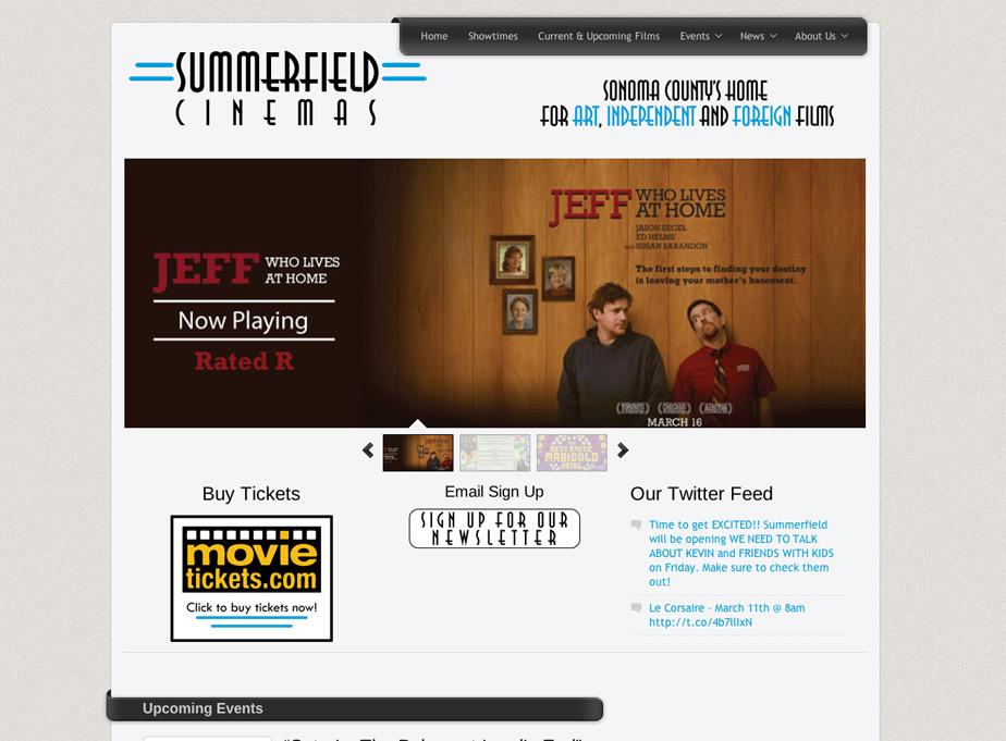 Summerfield Cinemas Website