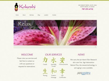 Kokeshi Spa Website