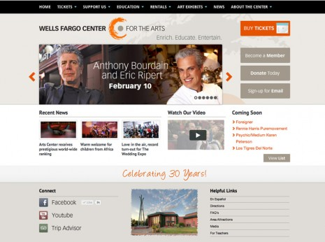 Wells Fargo Center for the Arts Website